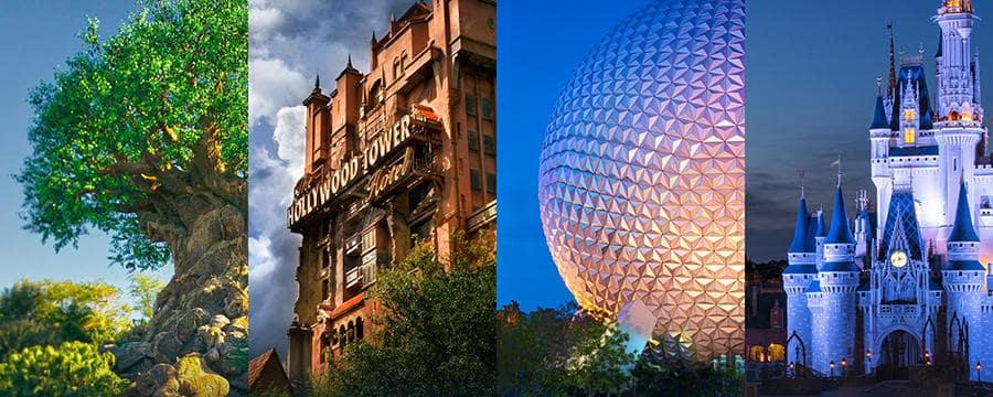 The four biggest Disney Parks