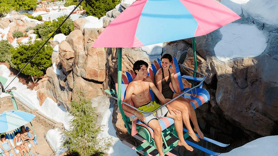 Disney's Blizzard Beach cable car