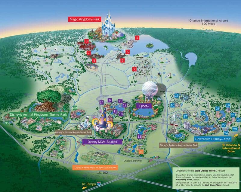 Walt Disney World Orlando Mapa