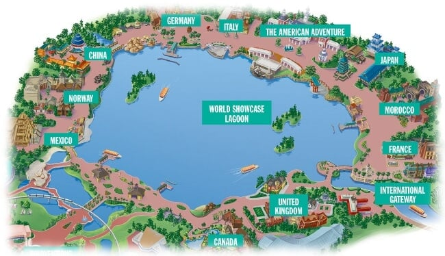Epcot map of countries