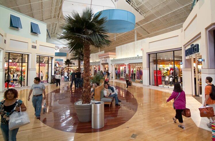 Inside shopping in Miami