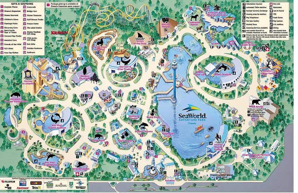 SeaWorld Map