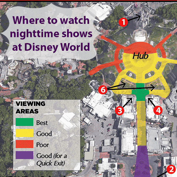 Best spots to see the Magic Kingdom Fireworks Show at Disney