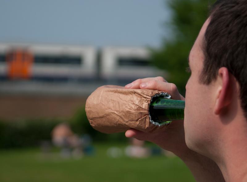 Drinking outsite