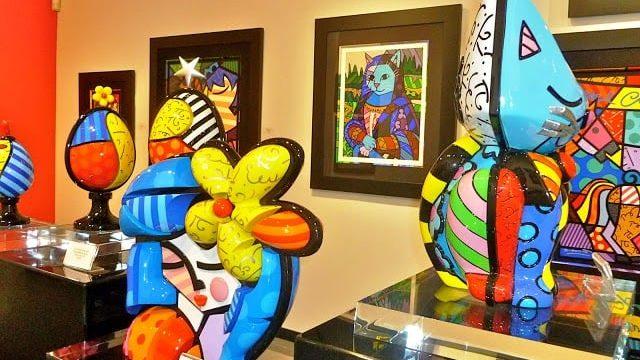Visiting Romero Britto Fine Art Gallery in Miami