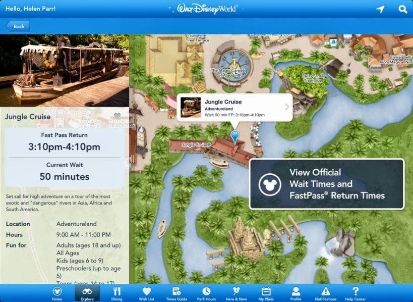My Disney Experience App Map