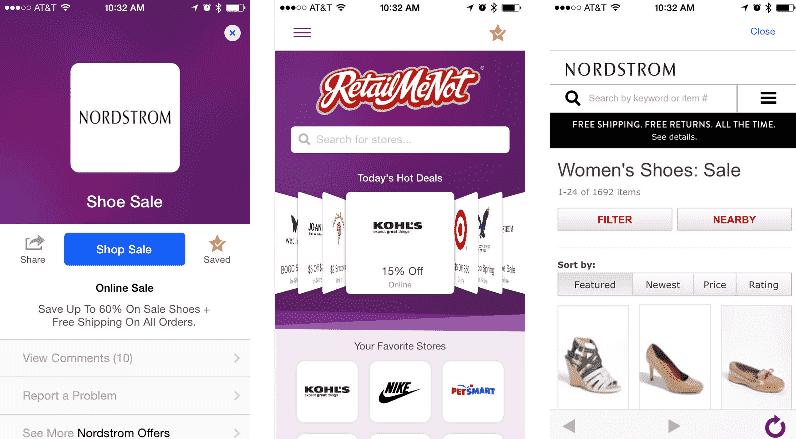 Discount coupons app