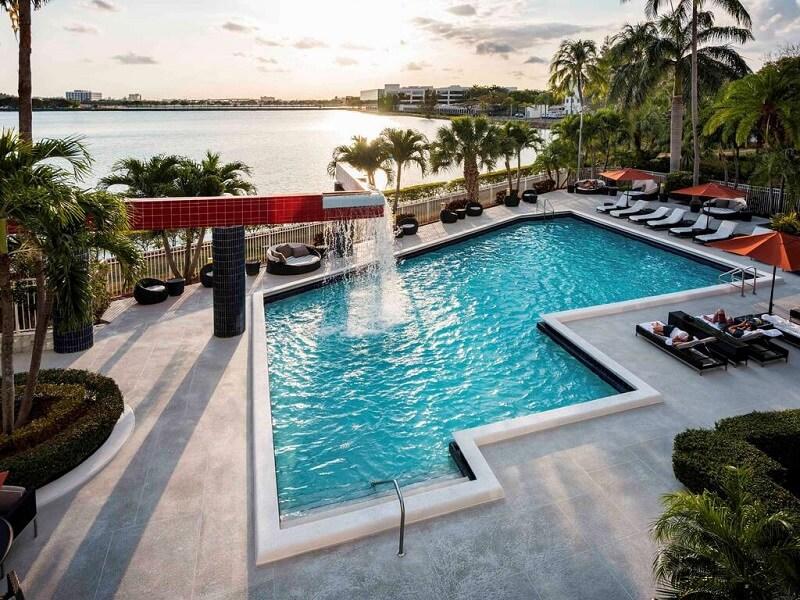 Hotel swimming pool in Miami