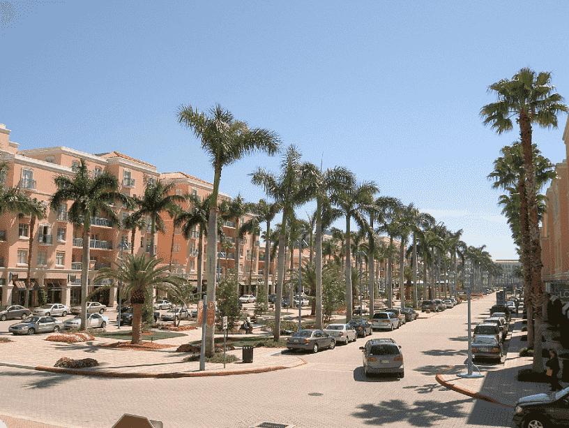 Famous street in Boca Raton
