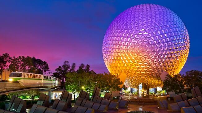 Disney's Epcot Center Map at Orlando