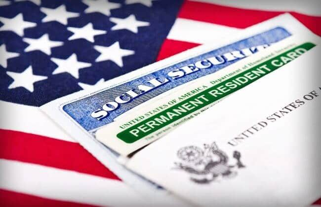 Green Card - permanent resident card