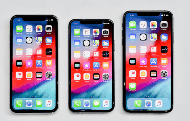 iPhone XS, XS Max and XR models