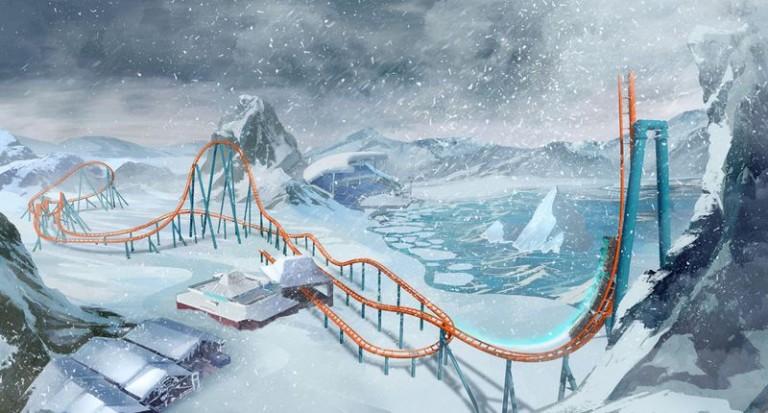 Ice Breaker roller coaster at SeaWorld