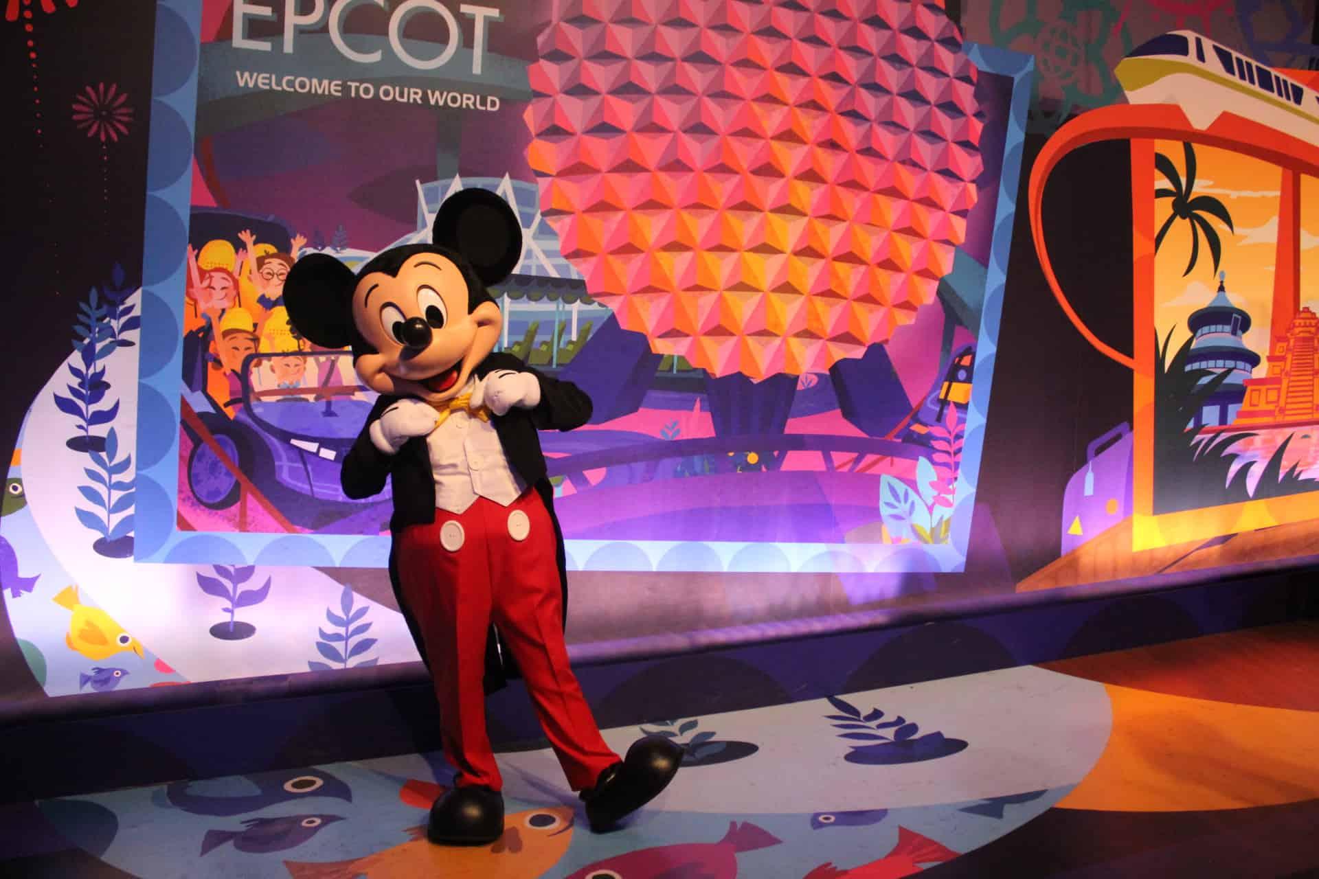 Mickey at Epcot Park